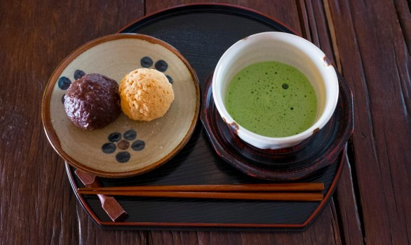 Ohagi with Macha